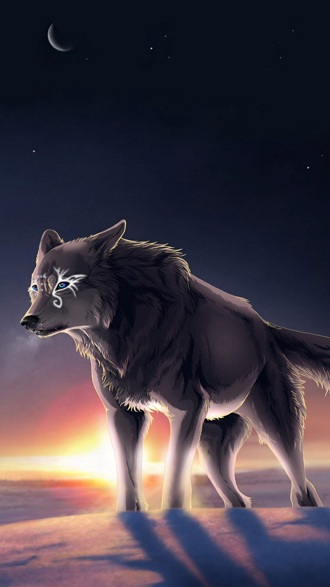 Fantasy Wolf Iphone Wallpaper Hd