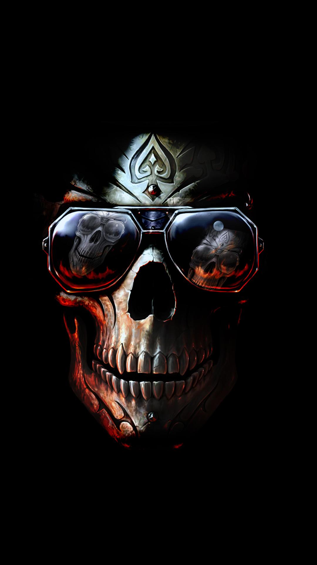 Badboy skull iphone wallpaper hd - Skeleton wallpaper ...