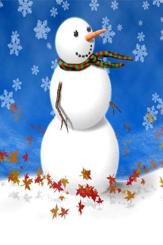 Snowman iPhone Wallpaper