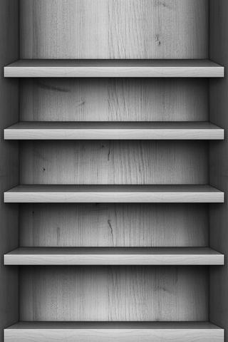Gray Wood Shelf
