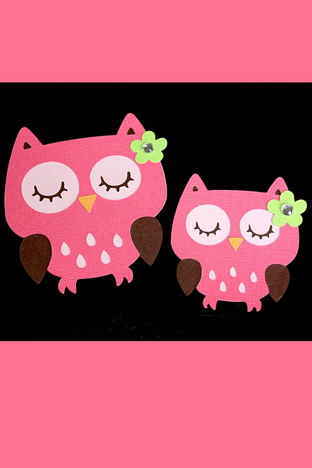 Pink Owls Wallpaper