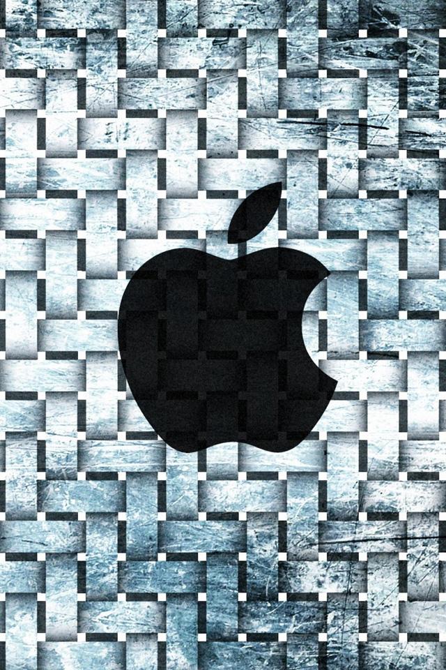 Apple Steel Pattern Wallpaper