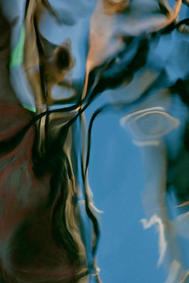 Turquoise Wet Paint Wallpaper
