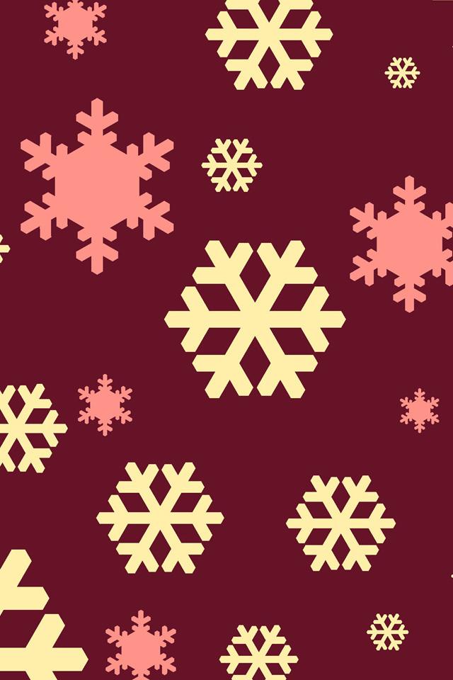 Abstract Snowflakes Wallpaper