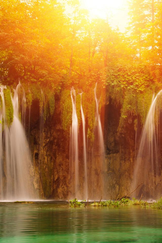 Scenic Waterfalls Wallpaper