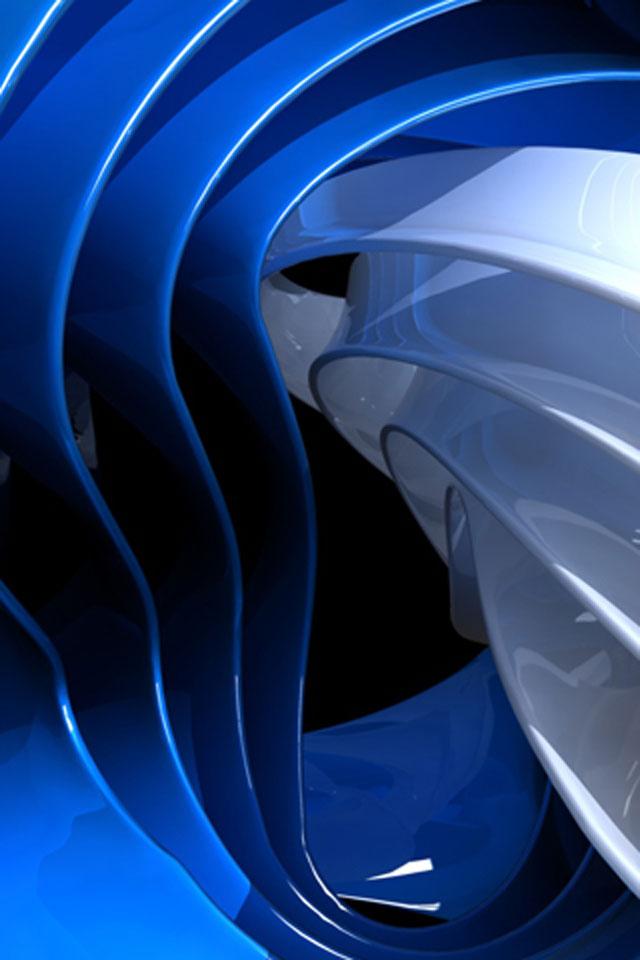 Blue Curve Wallpaper