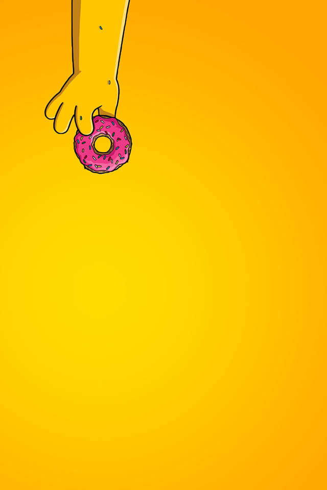Homer Donut Wallpaper