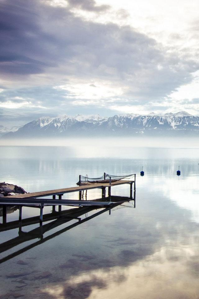 Mountain and Lake Wallpaper