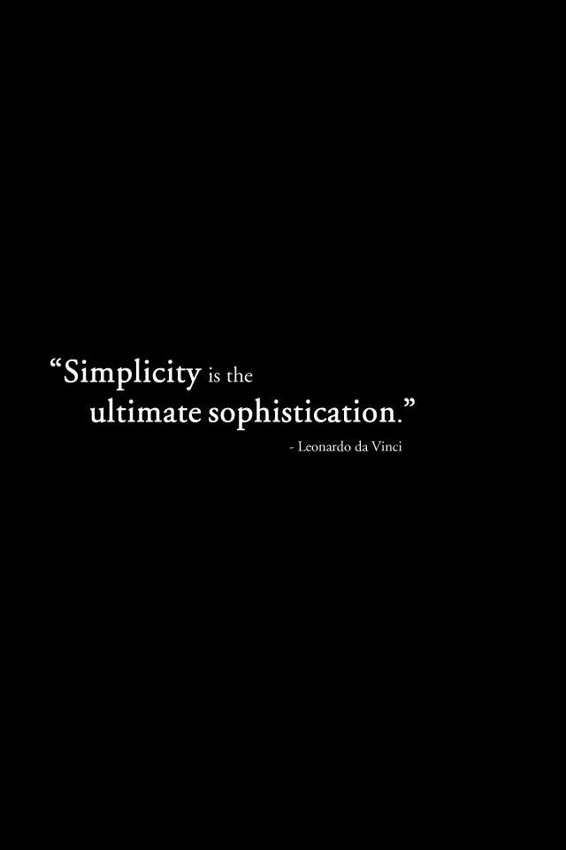Simplicity iPhone Wallpaper HD  Simplicity Wallpaper