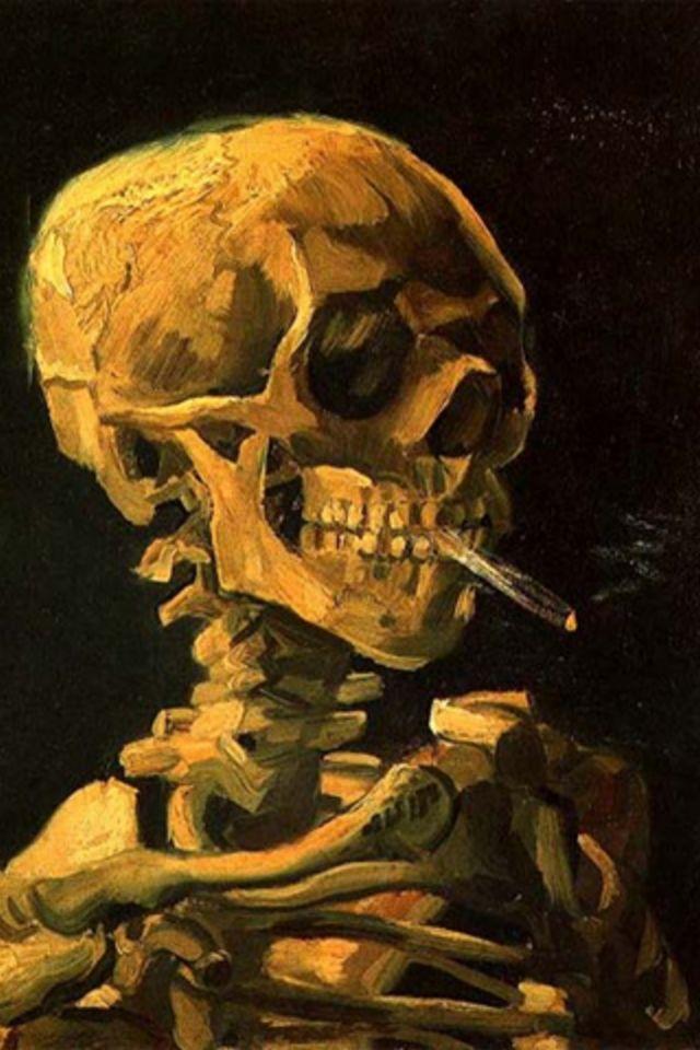 Cigarette Skeleton Wallpaper