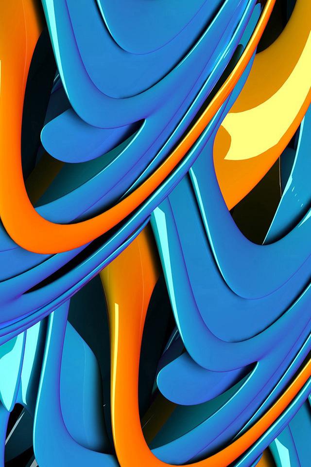 Blue Curl Wallpaper