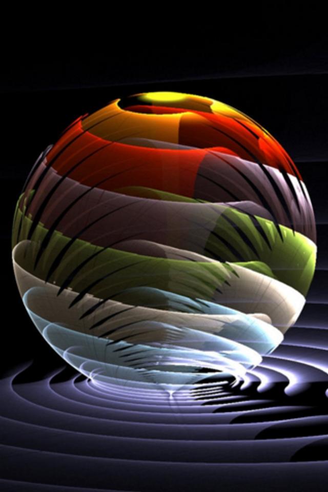 Sphere 3D iPhone Wallpaper HD