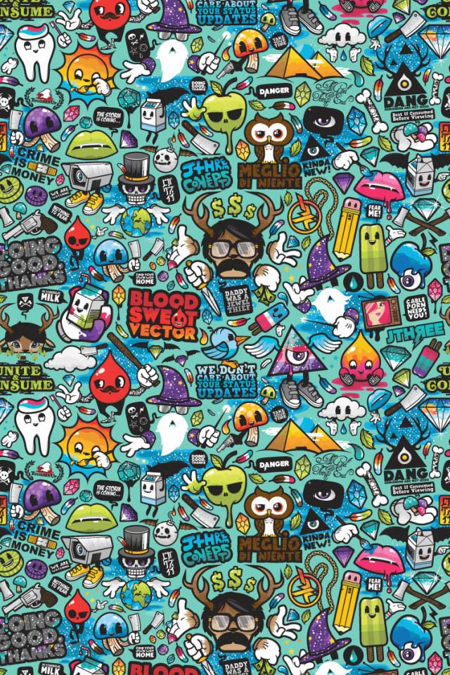 Funky Pattern Wallpaper
