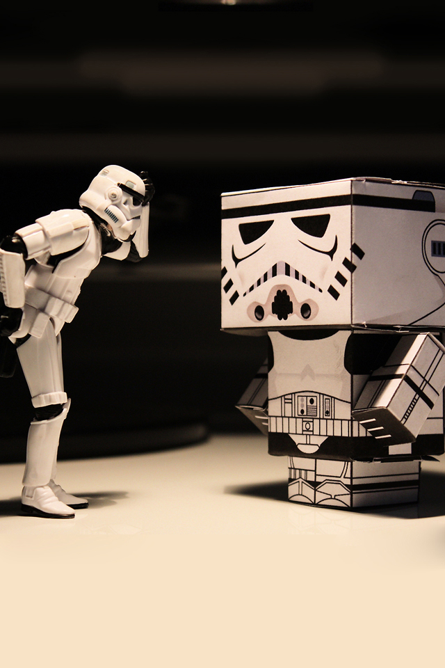 Storm Troopers Box Wallpaper