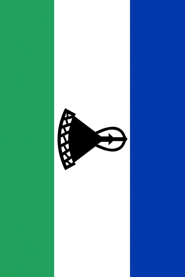 Lesotho Flag Wallpaper
