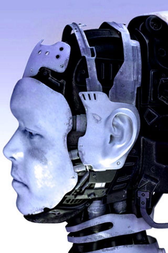 Robot Head Wallpaper