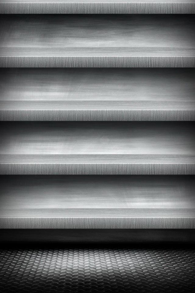 Greyish Shelf Wallpaper