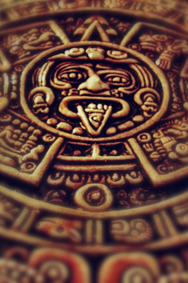Mayan Medallion Wallpaper