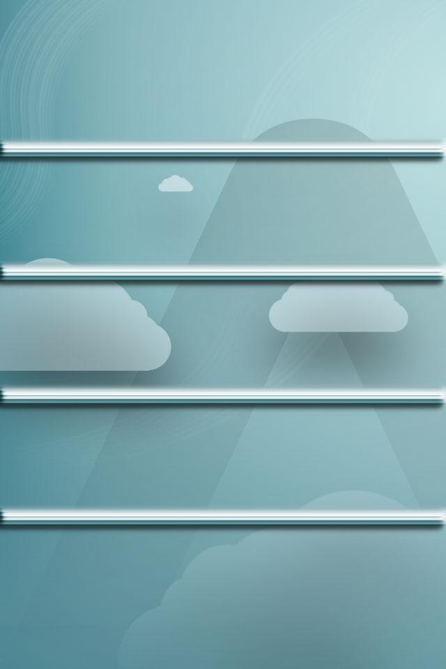 Cloud Shelf Wallpaper