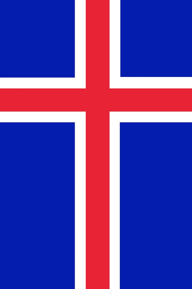 Iceland Flag Wallpaper