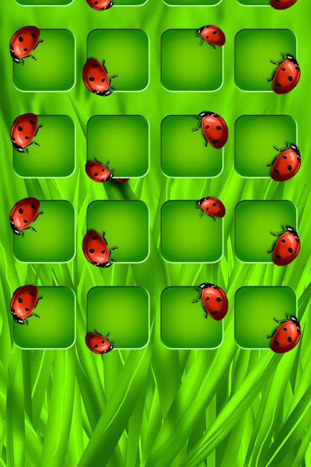 Ladybug Shelf Wallpaper