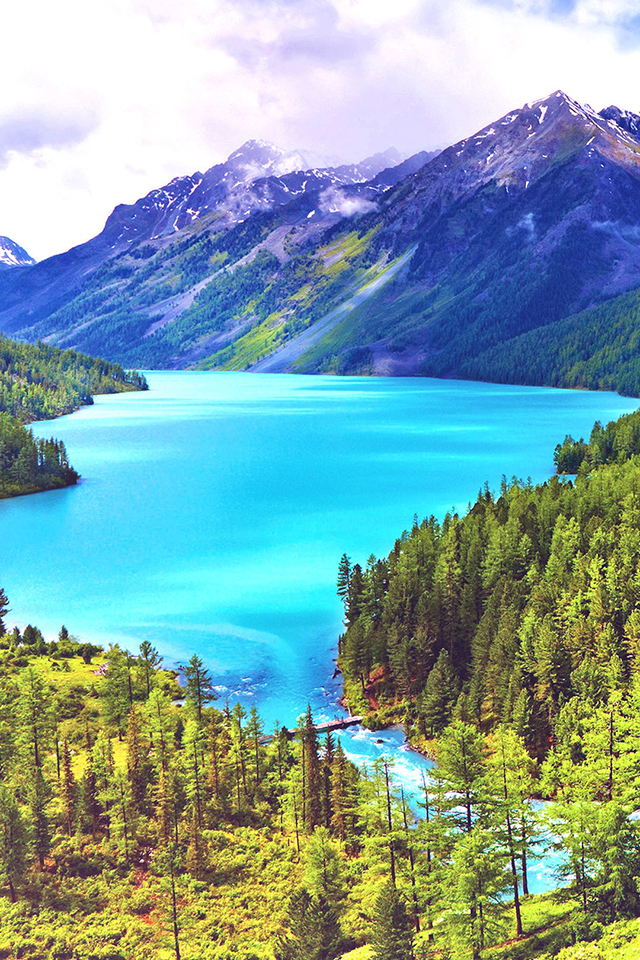 Glacial Lake Wallpaper