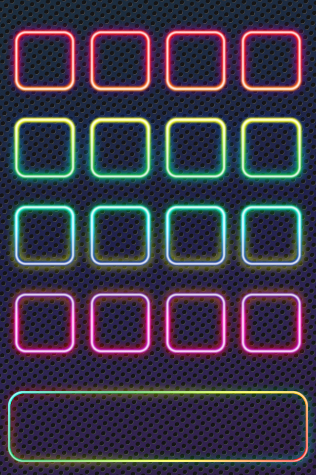 Neon Shelf Wallpaper