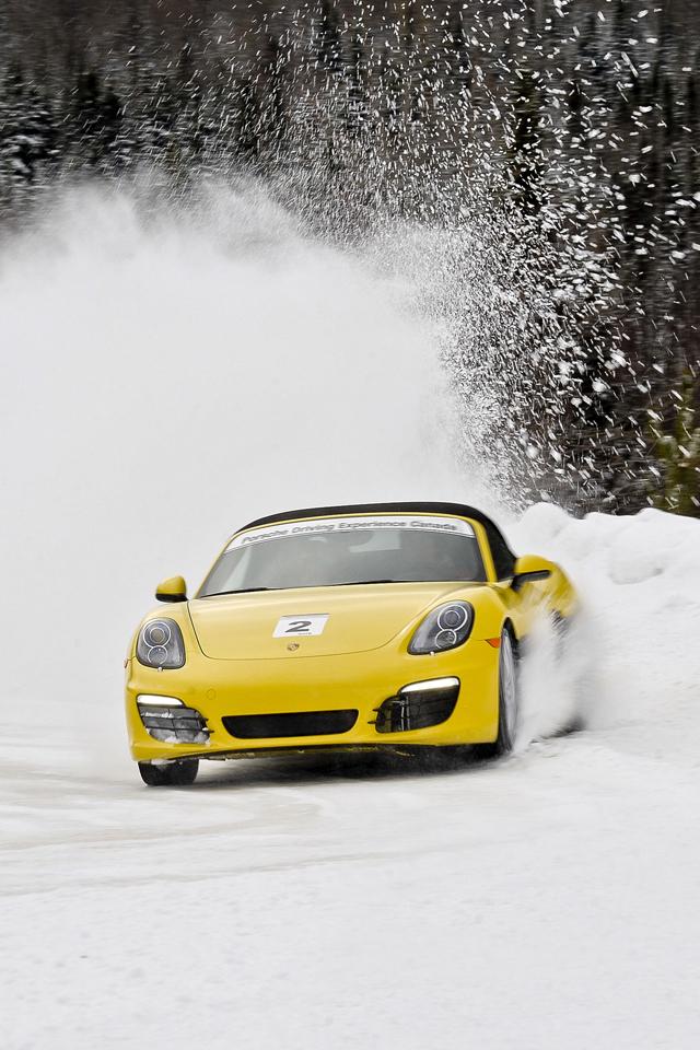 Yellow Porsche Wallpaper