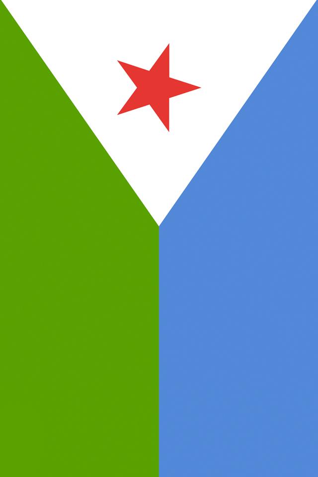 Djibouti Flag Wallpaper