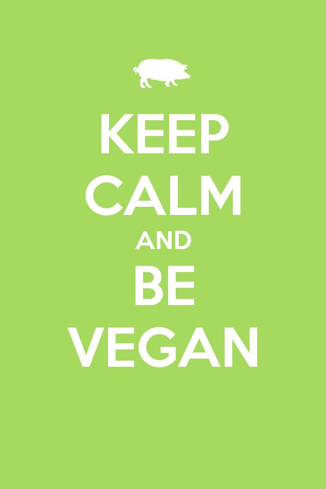 Keep Calm Vegan Wallpaper