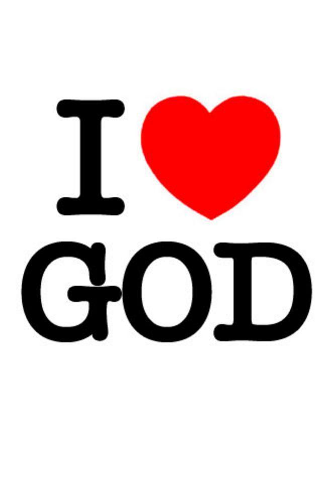 I Love God Wallpaper