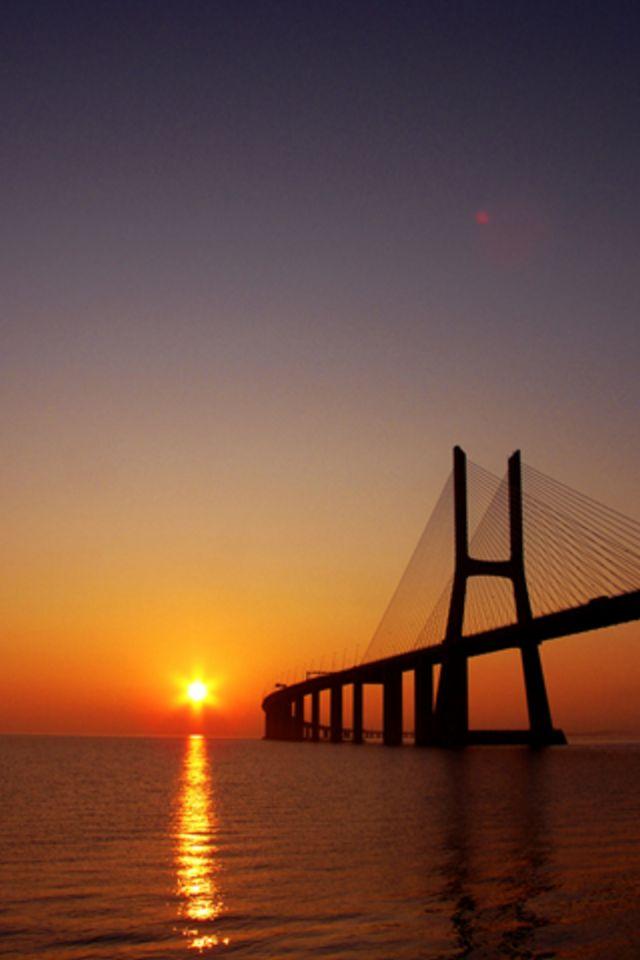 Sun Bridge Wallpaper