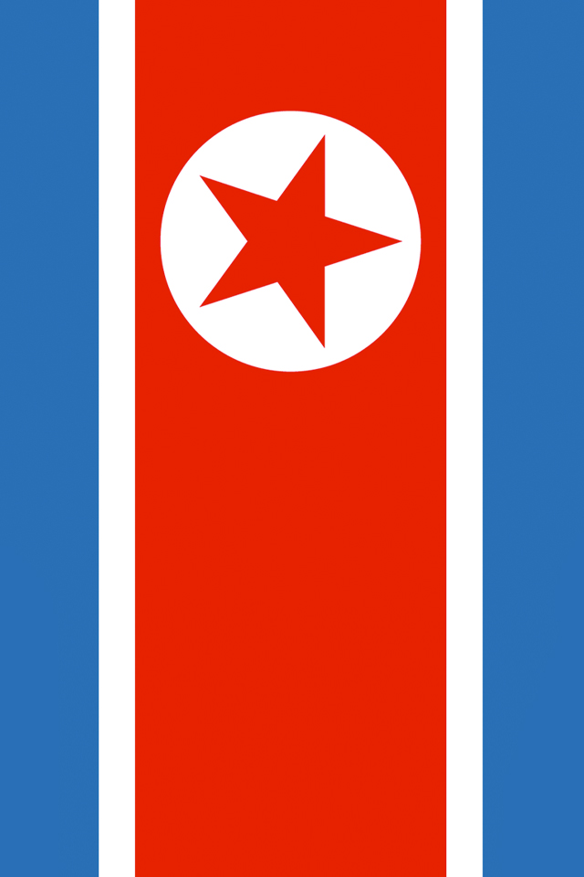 North Korea Flag Iphone Wallpaper Hd