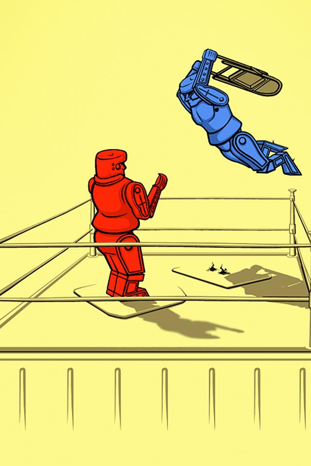 Robot Wrestling Wallpaper