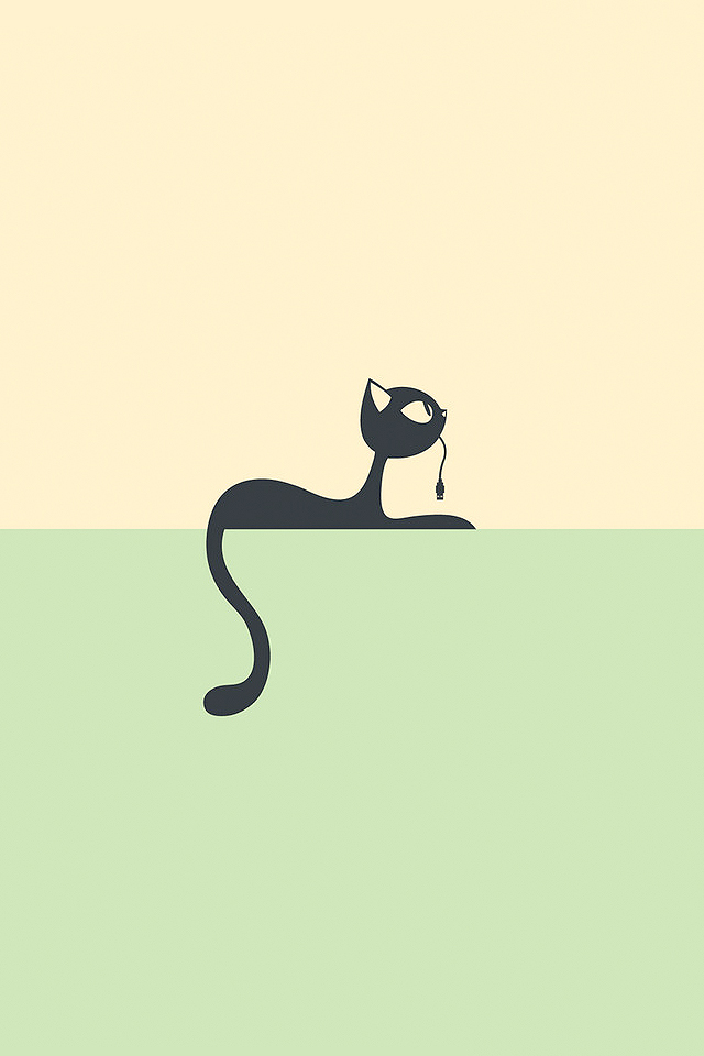 Cat Plug Wallpaper