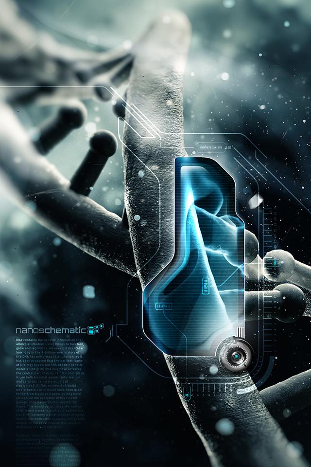 3D Nano DNA Wallpaper
