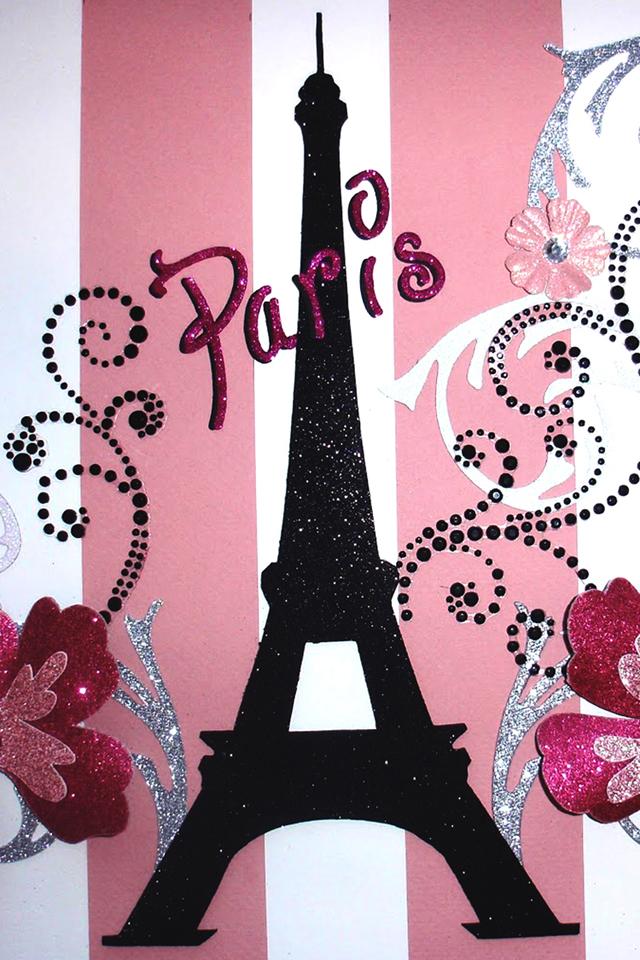 Paris Pink Wallpaper