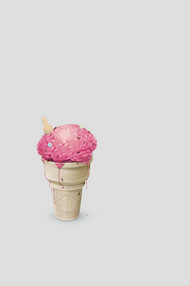 Ice Cream Brain Wallpaper
