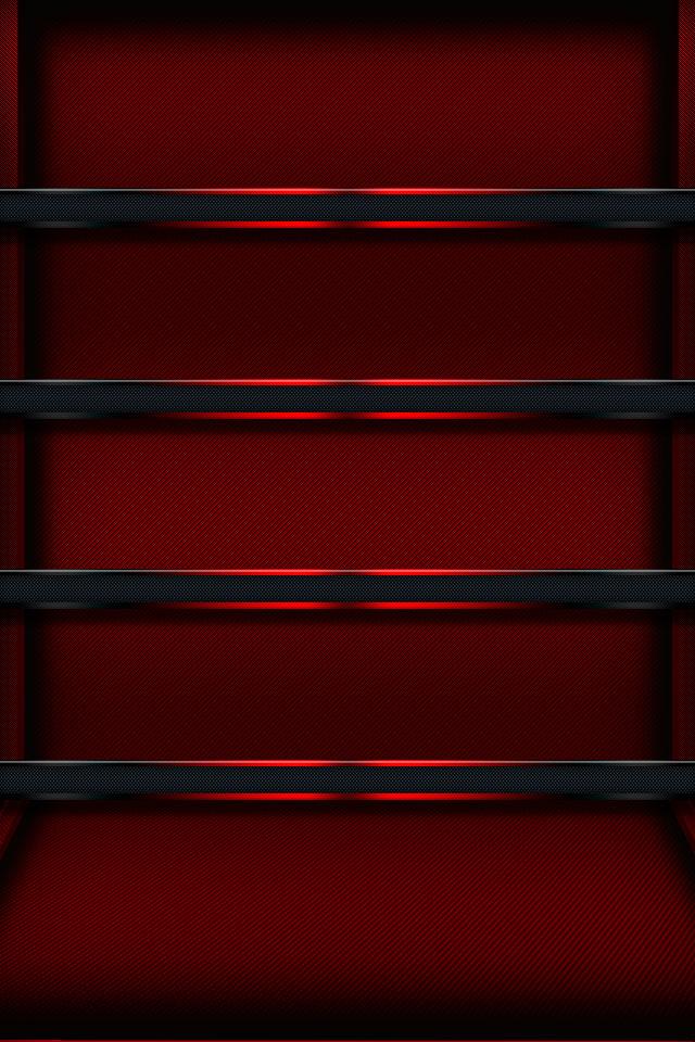 Red Glow Shelf Wallpaper