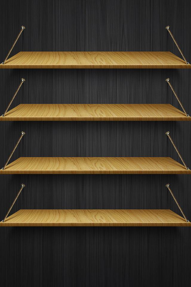 Hardwood Shelf Wallpaper