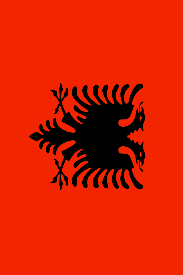 Albania Flag Wallpaper