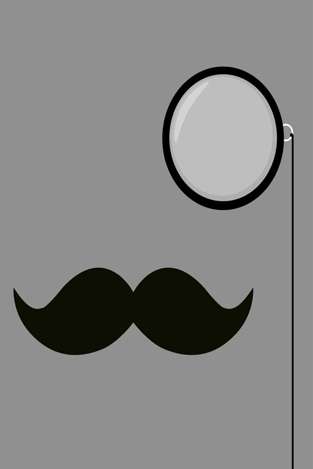Classy Moustache Wallpaper