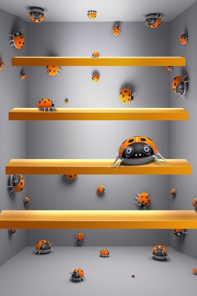 Bug Shelf Wallpaper