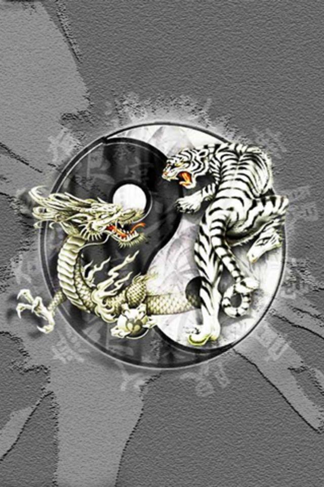 Yin Yang iPhone WallpaperYin Yang Dragon Tiger Wallpaper