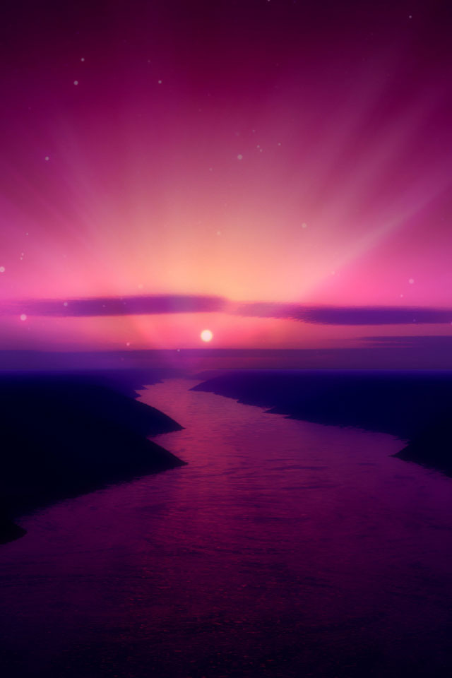 Aurora River Wallpaper
