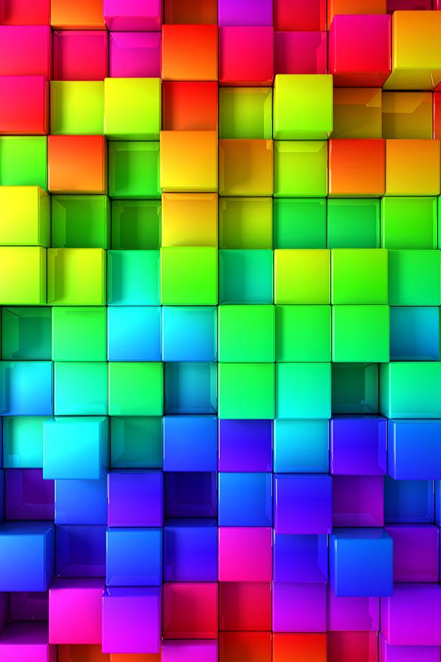 Rainbow Blocks Wallpaper