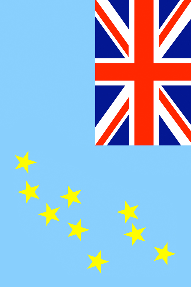 Tuvalu Flag Wallpaper