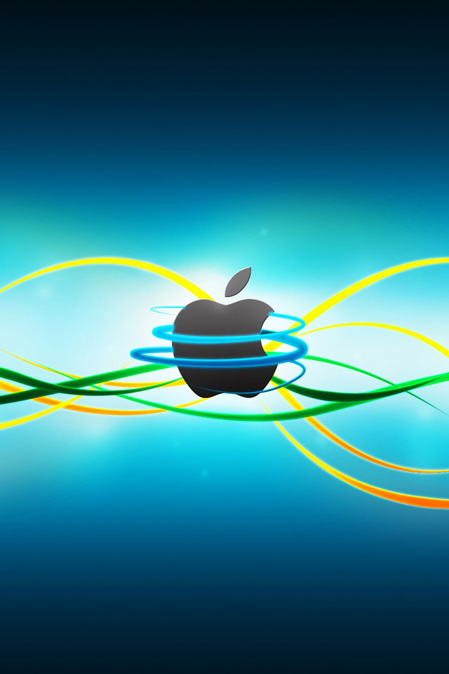 Line Apple Wallpaper