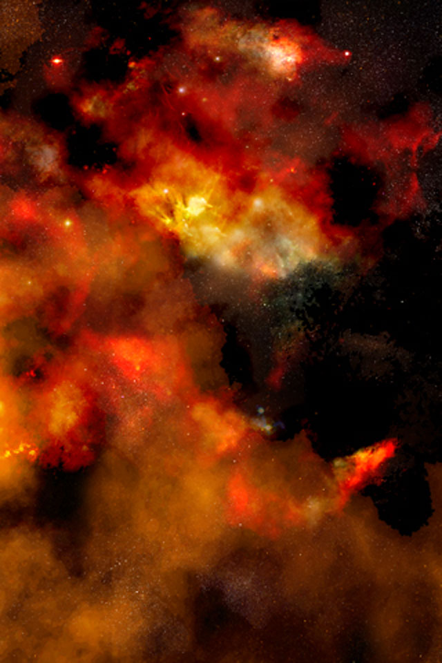 Red Galaxy Wallpaper
