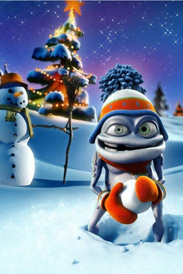 Evil Snowman Wallpaper